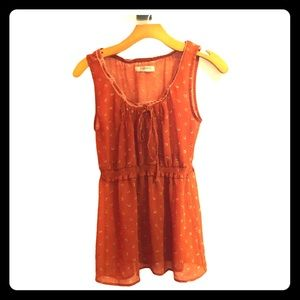 Romy Babydoll Smocked Waistband Top Size: Medium